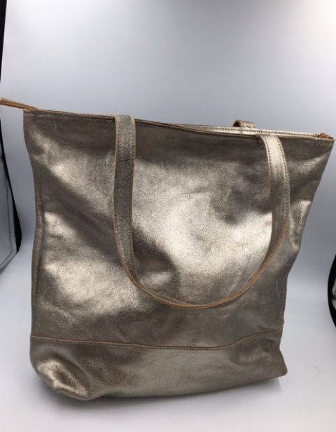 LEATHER ALL IN 1 TOTE LIGHT GOLD